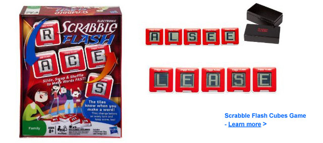 Scrabble Flash Cubes Game