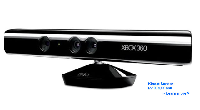 Kinect Sensor for XBOX360 Video Game System