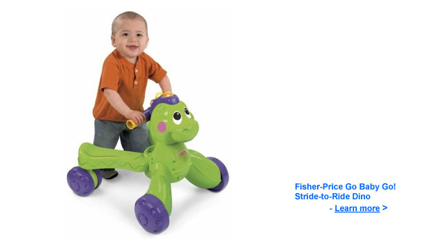 Go Baby Go! Stride to Ride Dino by Fisher Price