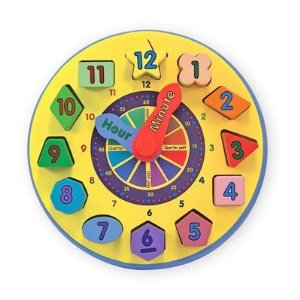 Wooden Shape Sorting Clock by Melissa and Doug