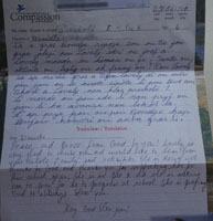 Letter from our Compassion Child
