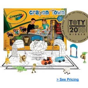 Crayola Crayon Town Large Mat Zoo Set