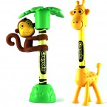 Crayon Monkey and Giraffe