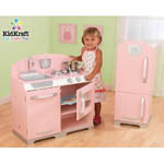 Kidkraft Retro Kitchen in Pink Toy Set