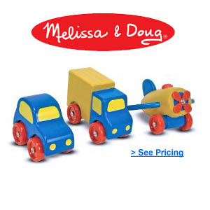 Melissa Doug First Wooden Vehicles Set