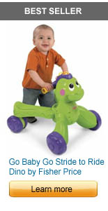 Go Baby Go Stride to Ride Dino by Fisher Price