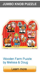 Jumbo Knob Wooden Farm Puzzle by Melissa and Doug